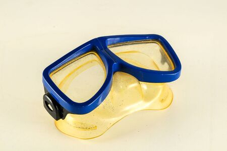 Close-up of diving scuba mask Object on a White Background Stock fotó