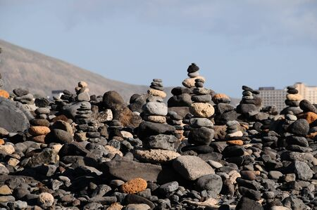 The Buddhist Traditional Stone Pyramids in Tenerife Canary Islands Spain