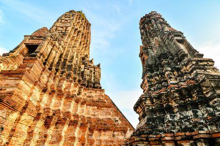 Old Thai Ruins, Ayutthaya,Beautiful photo picture taken in thailand, Southeast Asia