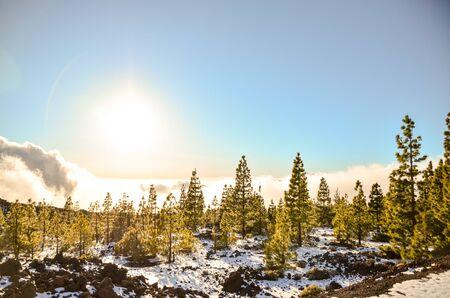 Winter Landscape on the High Mountain Range