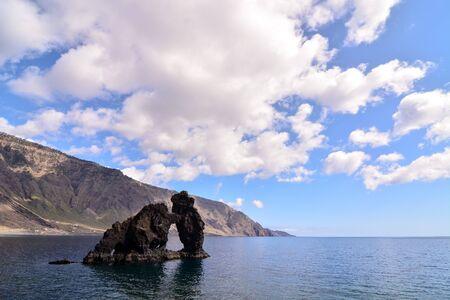 Roque de Bonanza beach in El Hierro Canary islands Spain Imagens