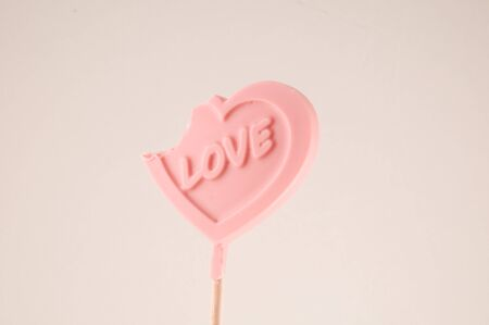 Photo picture of a Lollipop heart shaped love concept