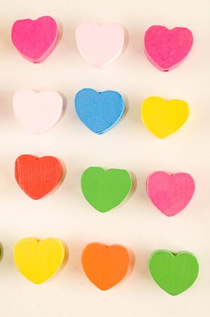 Photo picture of Heart texture background for Valentines day 写真素材