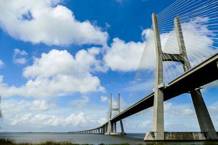 vasco da gama bridge in lisbon portugal, beautiful photo digital picture Stockfoto