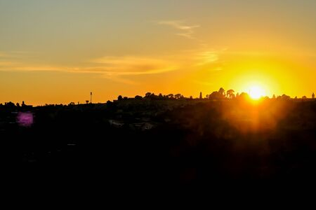 sunset in city, beautiful photo digital picture