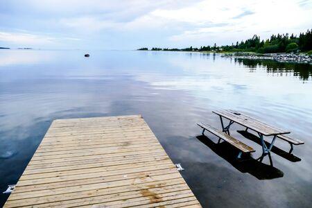 pier on the lake, beautiful photo digital picture Reklamní fotografie