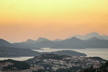 panoramic view of the city at sunset, beautiful photo digital picture