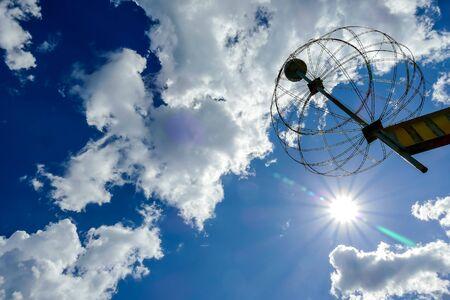 blue sky with clouds, beautiful photo digital picture Banco de Imagens