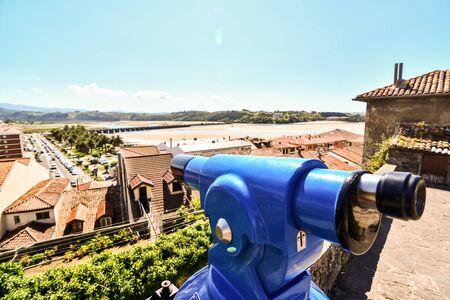 binoculars on island of greece, photo as a background, photo as a background, photo as a background, digital image