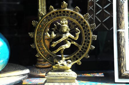 An Indian God Golden Statue Stock Photo