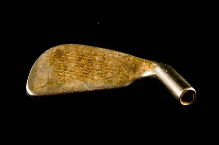 Close-up of golf-club golf clubObject on a black Background 写真素材