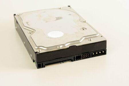 Gros plan sur le matériel du mécanisme interne du disque dur
