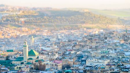 View of Medina in fes morocco, beautiful photo digital picture Imagens