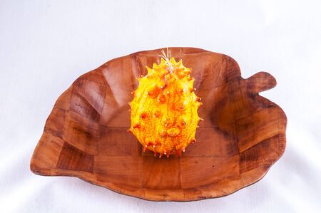 Kiwano Cucumis Metuliferus Exotic Vegetable Tropical Orange Fruit Standard-Bild