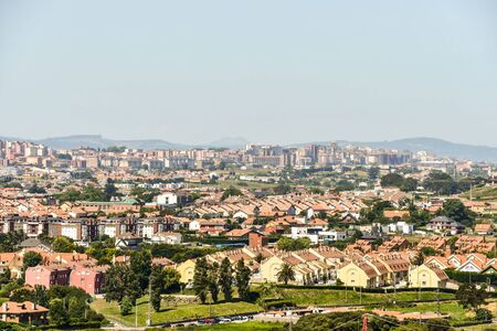 panoramic view of the city, photo as a background, digital image