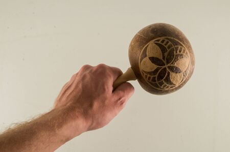 cuban music instrument maracas on a isolated background Stock Photo