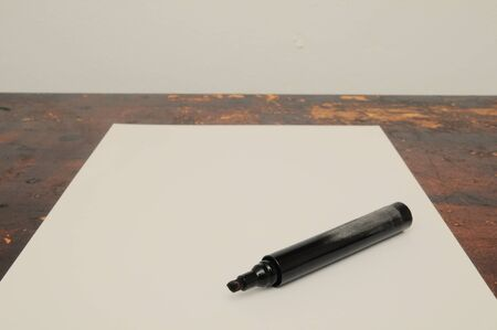 Exam Concept Picture Paper Sheet on a Wooden Table