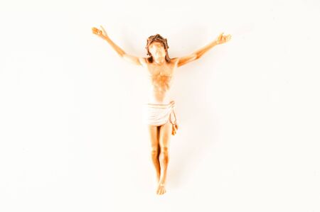 Photo picture of a Crucified Jesus Christ Statuette religion