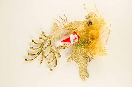 Vinatge Christmas decoration on a white background