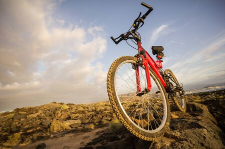 Photo Picture of a Mountain Bike at Sunset