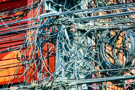 cables connected to network, beautiful photo digital picture