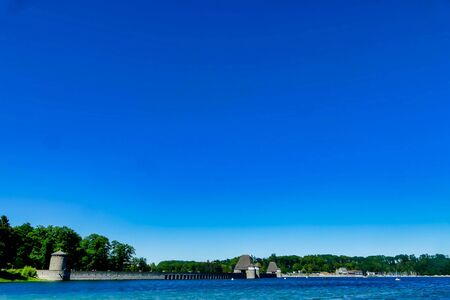 view of the sea and blue sky, beautiful photo digital picture Stock fotó
