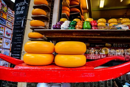 Photo picture of the classic Edam cheese in holland