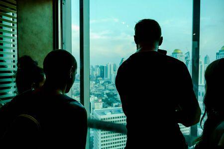 silhouette of man in front of window, beautiful photo digital picture 版權商用圖片