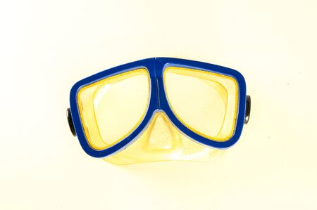 Close-up of diving scuba mask Object on a White Background Stockfoto