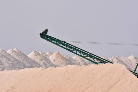 Photo Picture of Salt Flat Production Field Stockfoto