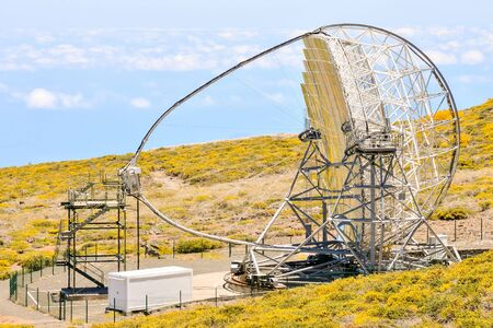 Photo Picture of a Modern Scientific Astronomical Observatory Telescope Stockfoto
