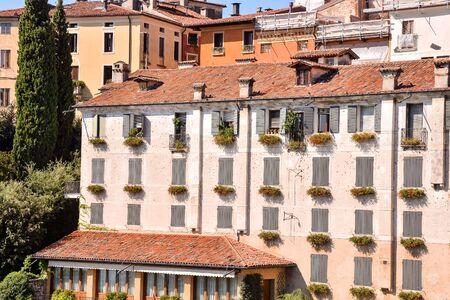 Photo Picture of the Medieval City Bassano del Grappa Stockfoto