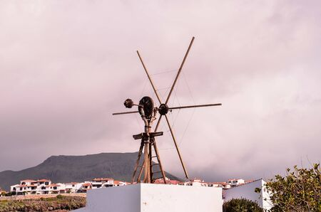 Vintage Wind Mill in Gran Canaria Canary Islands Spain