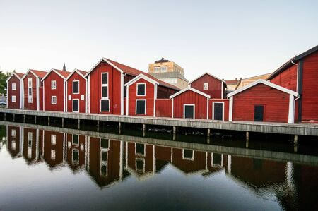 houses in norway, beautiful photo digital picture