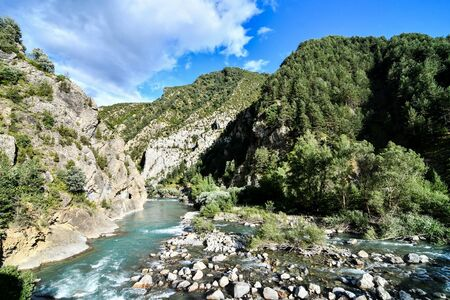 river in mountains, photo as a background, digital image