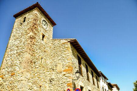 tower of church, photo as a background, digital image Standard-Bild
