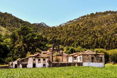 village in france, photo as a background, digital image Standard-Bild