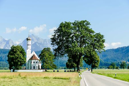 church in the countryside, beautiful photo digital picture