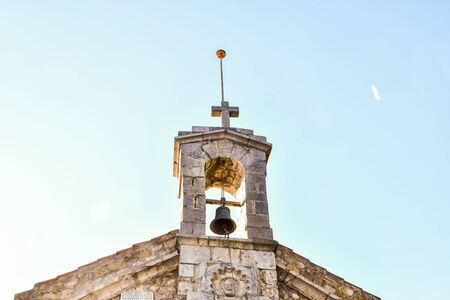 bell tower of church, photo as a background, digital image