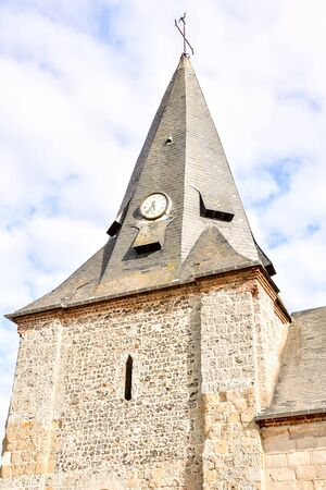 Photo Picture of medieval stone church in France Standard-Bild