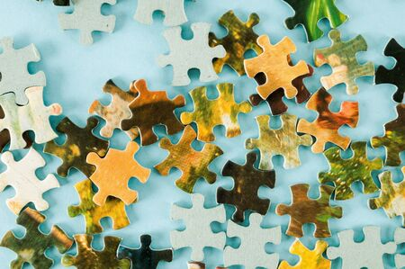 Photo picture of Jigsaw puzzle Background or texture Reklamní fotografie