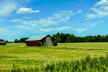 old barn in field, beautiful photo digital picture