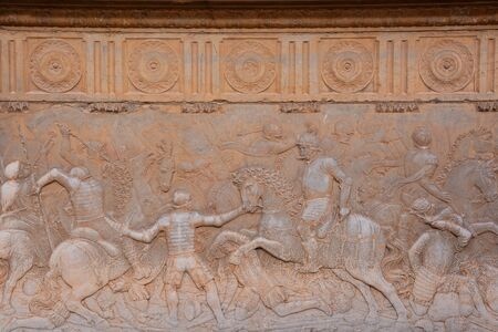Photo Picture of a Beautiful Bas Relief Texture in Granada Imagens