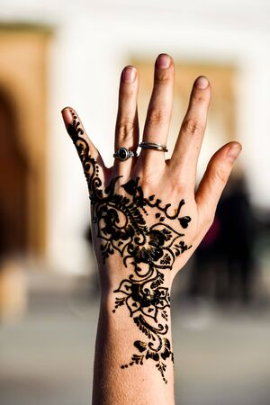 henna on female hands, beautiful photo digital picture