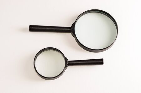Vintage Magnify Glass Loupe on a White Background