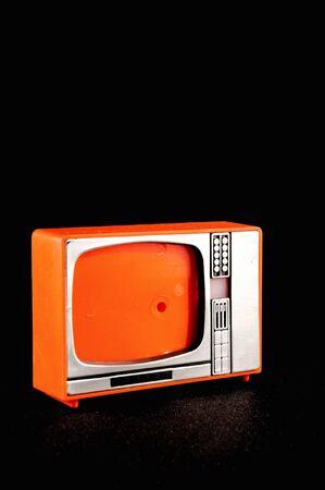 Classic Vintage Retro Style Old Plastic Televison