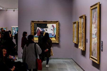 Editorial picture of Orangerie museum in paris city, taken 25 12 2018