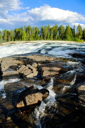Ristafallet Waterfall park in sweden,
