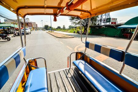 Beautiful photo picture of a Tuk Tuk taxi taken in thailand, Southeast Asia