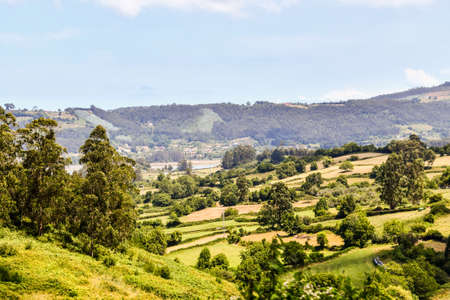 view of the village, photo as a background , san antolin de bedon principado de asturias, spain europe